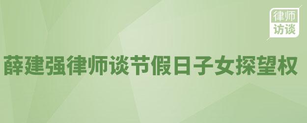 薛建强律师谈节假日子女探望权